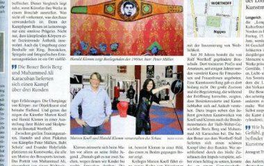 Kunstausstellung im Boxclub